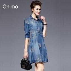 En Güzel Chimo Marka Yazlık Jean Elbise Modelleri