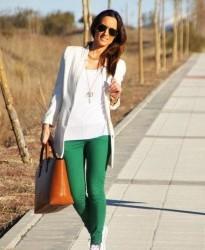 En Tarz Yeşil Pantolon Kombinleri