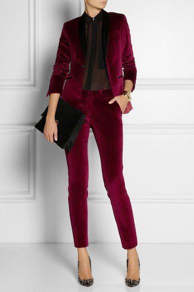En Trend Kadife Bordo Pantolon Modelleri 2016
