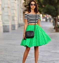 Genç Modası Yeşil Etek Kombinleri