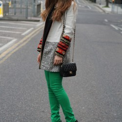 Kışlık Yeşil Pantolon Kombinleri