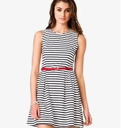 Kemer Detaylı Kloş Elbise Modelleri 2016