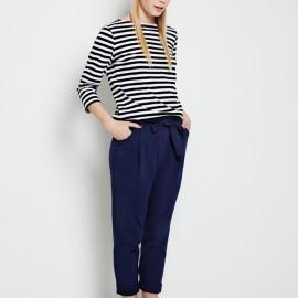 Kemer Detaylı Yazlık Lacivert Pantolon Modelleri 2016