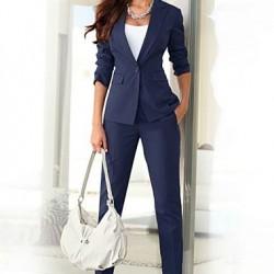 Lacivert Bayan Takım Elbise Modelleri 2016