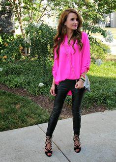 Siyah Pantolon Pembe Gömlek Kombinleri
