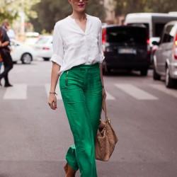 Sokak Modası Yeşil Pantolon Kombinleri