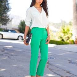 Yeşil Pantolon Üzerine Ne Giyilir 2016
