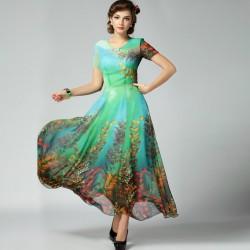 Yeni Sezon Şifon Detaylı Elbise Modelleri