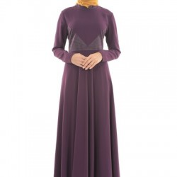 Günlük Giyime Uygun Çoz Güzel 2 Yaka Tesettür Elbise Modelleri