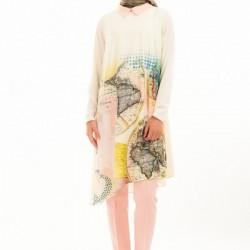 Yeni Sezon Baskılı Desenli 2 Yaka Tunik Modelleri