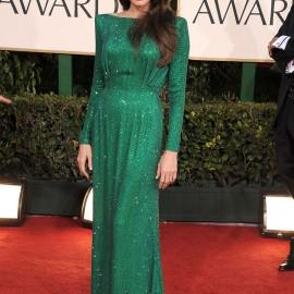 Angelina Jolie Yeşil Renkli Şık Abiye Modeli