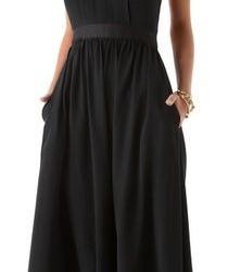 Cep Detaylı Siyah Uzun Elbise Modelleri