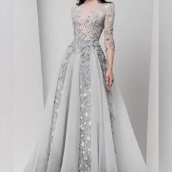 En İddialı Gri Abiye Elbise Modelleri 2016