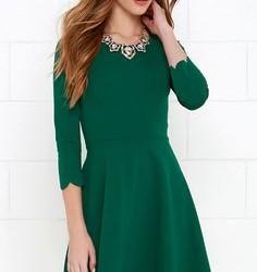 En Şık Yeşil Mini Elbise Modelleri