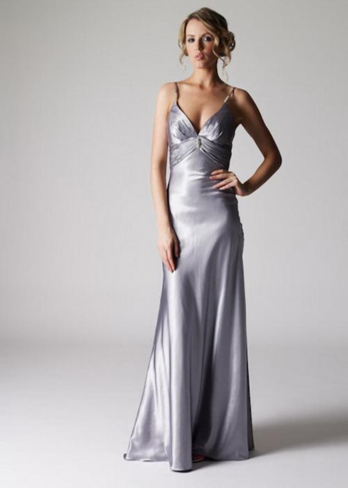 En Güzel Gri Askılı Abiye Elbise Modelleri 2016