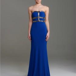 En Güzel Saks Mavisi Elbise Kombinleri