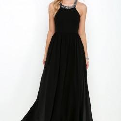 En Güzel Tül Detaylı Siyah Elbiseler