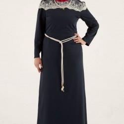 En Yeni Büyük Beden Tesettür Elbise