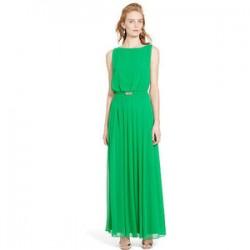 Kemer Detaylı Pileli Elbise Modelleri 2016