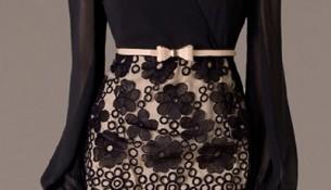 Siyah İşlemeli Elbise Modelleri