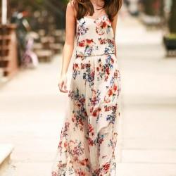 Sokak Modası Çiçek Desenli Elbise Modelleri 2016