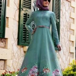 Yazlık Tesettür Elbiseleri Genç Modası 2016