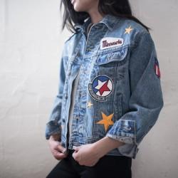 Yeni Sezon Yamalı Kot Ceket Modelleri