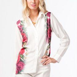 Çok Şık Çiçek Desenli Gömlek Modeli