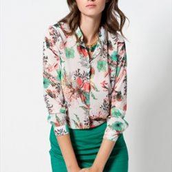Uzun Kollu Çok Şık Desenli Gömlek Modeli