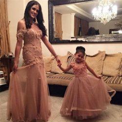 Çok Tarz Anne ve Kız Çocuk Abiye Modelleri