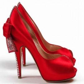 Abiye Elbise için En Güzel Kırmızı ayakkabı modeli