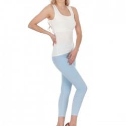 Askılı kol Bluz Modelleri ile Buz Mavisi Dar Kesim Pantolon Kombinleri Şıklık hiç Hayal Değil