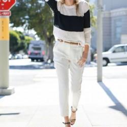 En Şık Siyah Bayz Triko ve Beyaz Pantolon Kombinleri.jpg