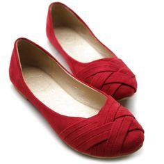 En Güzel Kırmızı Babet Ayakkabı Modelli