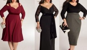 Kilolu bayanlar için şık kıyafetler