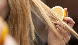 Limon ile saç açma