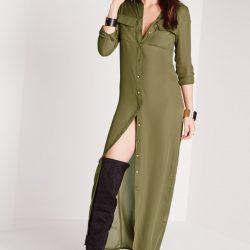 Çok Şık Uzun Gömlek Elbise Modelleri