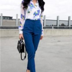 En Güzel Mavi Pantolon Kombinleri