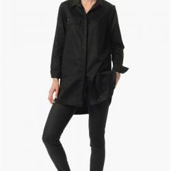 Siyah Renkli Çok Kibar NetWork Bayan Gömlek Modelleri