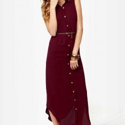 Kalın Askılı Uzun Gömlek Elbise Modelleri