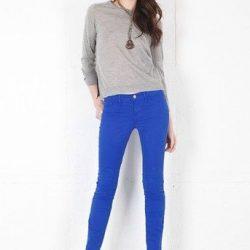 En Şık Mavi Pantolon Kombinleri