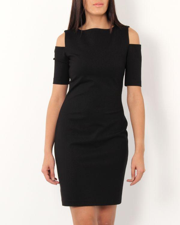Siyah Göz Alıcı Çok Şık Ekol Elbise Modeli