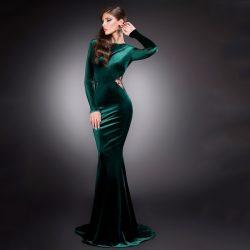 En Güzel ve En Şık Kadife Abiye Modelleri