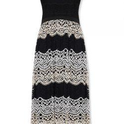 Dantel Detaylı Çok Kibar Vakko Elbise Modeli