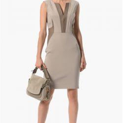 Yaka ve Cep Detaylı Çok Şık 2016 -2017 NetWork Elbise Modelleri