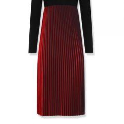 Pile detaylı Uzun Kollu 2016 - 2017 Vakko Elbise Modelleri
