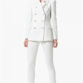 Beyaz Düğme Detaylı Çok Kibar NetWork Bayan Ceket Modelleri
