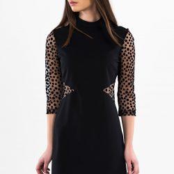Kolları Tül Olan Elbise Modeli