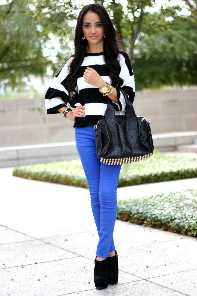 Oldukça Hoş ve Göz Alıcı Mavi Pantolon Kombinleri