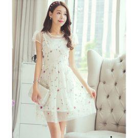 Beyaz Renkli En Hoş Tüllü Elbise Modeli